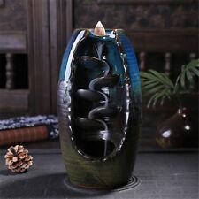 Ceramic Waterfall Backflow Smoke Incense Burner Censer Holder Decor Gift AU