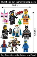 Lego Movie Reusable Wall Stickers Kids Bedroom Decals Remove & Reuse