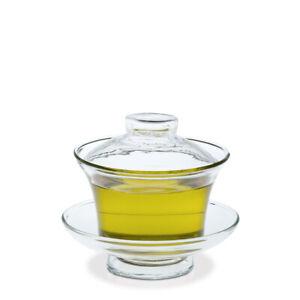 Gaiwan -  chinesisches Teegefäß aus Glas