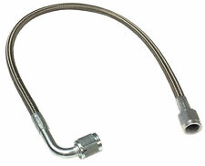 "Turbo Oil Feed Line 36"" Steel Braided  -4An -4 AN 90 Degree x Straight line Assy"