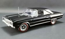 ACME 1967 Dodge Coronet R/T BLACK 1/18 Scale Collectible Diecast Car Model Toy