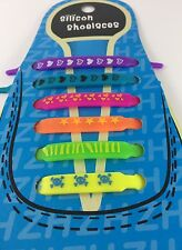 Colorati Lacci Delle Scarpe in Silicone elastico estensibile Lacci Scarpe Da Ginnastica Bambini Colore