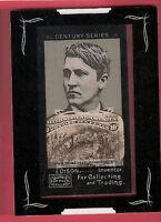 THOMAS EDISON RELIC CARD 1893 10 CENT STAMP COLUMBUS PRESENTING NATIVES TOPPS