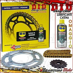 Set Transmission DID Professionnel Chaîne Engrenage Pignon Honda CB 600R F3 1998
