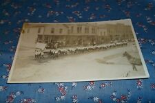Old Postcard Unknown Location Main Street Parade New Opera House Meat Market