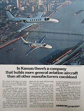 1/1978 PUB CESSNA CITATION AIRCRAFT WICHITA KANSAS AVION FLUGZEUG ORIGINAL AD