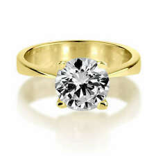 Diamond Solitaire Ring 18k Yellow Gold 1.25 Ct Diamonds