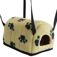SMALL BEIGE IGLOO PET BED GUINEA PIG CAVE HAMMOCK COSY TOY FOR CAGE/RUN COMFY