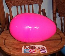 "Jumbo Mega 12"" HOT PINK Plastic Surprise Prize Easter Egg NWOT"