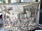 Vintage Tapestry Ancient Marketplace.  Maybe Roman, Greek Or Egyptian Scene.