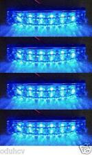4x lateral trasero Perfil Marcador 6 leds azul 24v LUCES CAMIÓN TRAILER CAJA