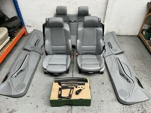 BMW E46 Convertible M Sport Grey Leather Heated Seats & Door Cards + Trim #124