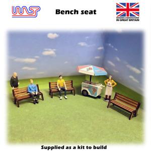 1/32 scale Bench seats - Park bench, Slot track, Scenery, kit