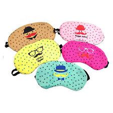Cute Eye Sleeping Rest Travel Sleep Mask Soft Cover Shade Blinder Blindfold EF