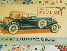 Vintage Unbuilt Hubley 1/18 Duesenberg Model Kit
