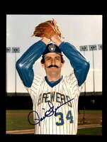 Rollie Fingers Hand Signed 8x10 Photo Autograph Milwaukee Brewers