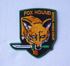 Metal Gear FOX HOUND Special Forces EMBROIDERED HOOK  PATCH BY MILTACUSA