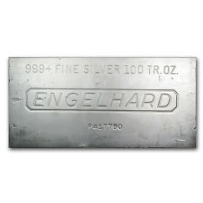 100 oz Engelhard Silver Bar - Secondary Market - Various Pour Styles -SKU #62130