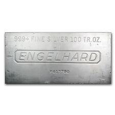 100 oz Engelhard Silver Bar - Secondary Market - Various Pour Styles -SKU #62130