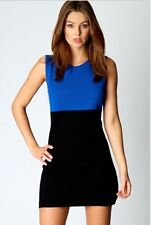 Black and Blue Twofer Empire Bodycon Dress