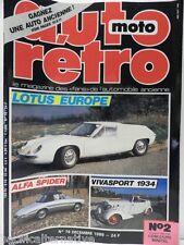 Revue AUTO RETRO moto magazine n° 76 - décembre 1986 collection lotus europe
