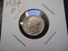 1934-P Mercury dime in high grade FB a nice one.