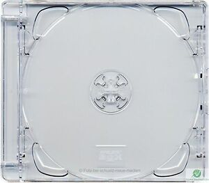 CD Super Jewel Box 10.4mm Single 1 Disc Super Clear Tray Replacement Case