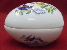 """LIMOGES china bIRD OF PARADISE pattern EGG BOX 4"""" x 3"""""""