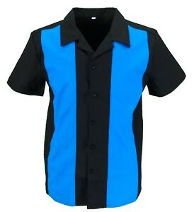 Retro Black/Blue Rockabilly Bowling Shirts