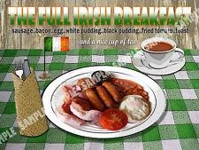 La colazione irlandese COMPLETO Retrò Diner CUCINA: CASA ARREDAMENTO: IDEALE REGALO metallo segno
