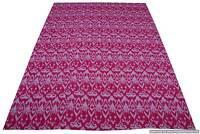 Indian Handmade Ikat Throw Kantha Quilt Reversible Bedspread Twin Blanket Ralli