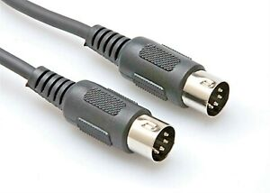 Midi Cable 1m  Metre 4 Core 5 Pin Din Plug to Plug Audio Lead 100cm