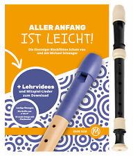 Classic Cantabile Anfänger C-Sopran Blockflöte Kunststoff mit Schule Noten Set
