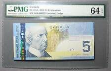 CANADA $5 2006 AOK4083752 - SNR Replacement - PMG Graded GEM UNC 64 *RARE*