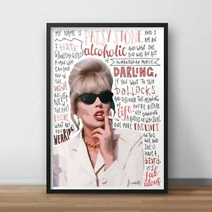 Patsy Stone Poster / Print / Wall Art A4 A3 / Absolutely Fabulous / Darling
