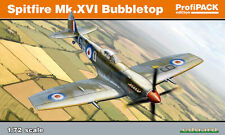 1:72 MODEL KIT Eduard 1:72 Spitfire Mk XVI Bubbletop Profipack Edition EDK70126