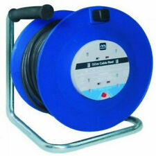 New Masterplug 50m 4 Gang 13 Amp Cable Reel with Thermal Cut-Out And Reset