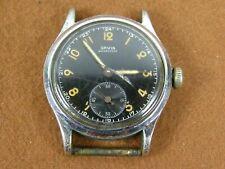 Vintage Original Orvin Waterproof Military Style Watch Black Dial