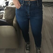 Pull and Bear ZARA Groupe Taille Haute Mom Jeans UK 6 EUR 34