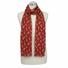 Red Gingerbread Man Men Festive Scarf Christmas Secret Santa Gift Peony Scarves
