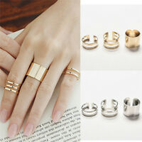 Women Fashion 3Pcs/Set Fashion Top Of Finger Adjustable Open Ring Jewelry Gift C