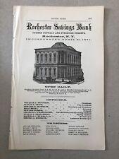 1871 Rochester Savings Bank Rochester NY Advertisement #B-28