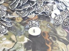 BIKER MOTORCYCLE CLOTHING GOTHIC PIRATE 10 SKULL & CROSSBONES PEWTER BUTTONS New