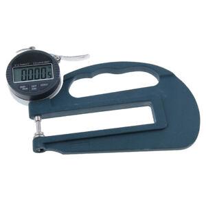 Digital Thickness Gauge Meter 0-12.7mm Range for Leather Paper Measuring