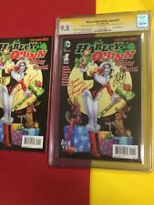 Harley Quinn Holiday Edition Special#1 CGC 9.8WP 2xSigned 2pcLot,Christmas Cover