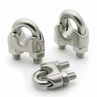10mm Stainless Steel Wire Rope Clip Grip Saddle Fastener Balustrade Cable