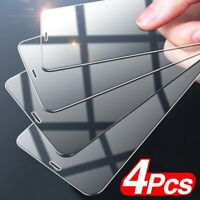 4Pcs For iPhone 12Pro Max 11 XR XS 8 7Plus Clear Tempered Glass Screen Protector