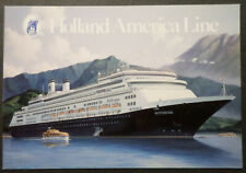 ms Rotterdam . Holland America Line HAL Boat Cruise Ship Stephen J. Card Artwork