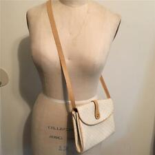 Vintage Gucci Beige & Tan Shoulder Bag Cross-body Small GG Pouch Purse
