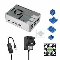 BENSN Raspberry Pi 4 Model B 1GB / 2GB / 4GB Starter Kit Case with Silver Case,